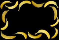 Plátanos maduros aislados Imagen de archivo libre de regalías
