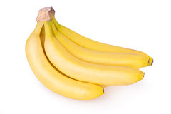 Plátanos maduros aislados Fotos de archivo libres de regalías