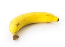 Plátanos maduros en el fondo blanco, fruta sana Imagenes de archivo
