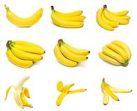 Plátanos maduros fijados Foto de archivo libre de regalías