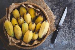 Plátanos maduros frescos Foto de archivo libre de regalías