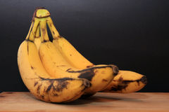 Plátanos putrefactos Fotos de archivo