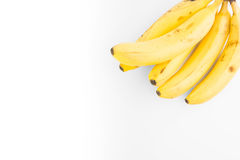 Plátanos sabrosos aislados Fotos de archivo libres de regalías
