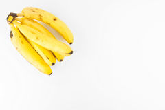 Plátanos sabrosos aislados Imágenes de archivo libres de regalías