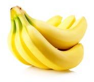 Plátanos sabrosos aislados en el fondo blanco Fotos de archivo libres de regalías
