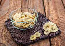 Plátanos secados Fotos de archivo