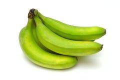 Plátanos verdes Imagen de archivo libre de regalías