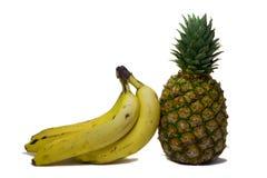 Plátanos y piña Foto de archivo libre de regalías