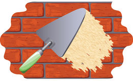 Plâtrage du mur Images libres de droits