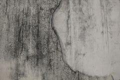 plâtre Blanc-gris avec les taches noires sur le mur Image stock