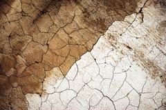 Plâtre de Sandy avec des fissures Photos libres de droits
