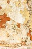 plâtre et peinture de émiettage Images libres de droits