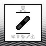 Plâtre médical, icône adhésive de bandage Image stock