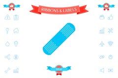 Plâtre médical, icône adhésive de bandage Photos libres de droits