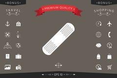Plâtre médical, icône adhésive de bandage Images libres de droits