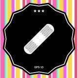Plâtre médical, icône adhésive de bandage Photographie stock libre de droits