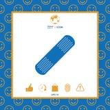 Plâtre médical, icône adhésive de bandage Photos stock