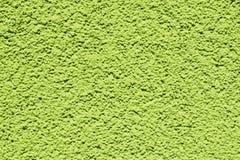 Plâtre sur le mur dans la couleur verte Image libre de droits