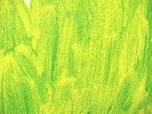 Plâtre vert sur le mur, courses détaillées de brosse d'art sur le stuc images stock