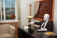 Plâtrez la figure de Sergei Korolev dans son bureau Images libres de droits