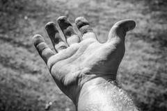 Plädera och bedjande hand arkivfoton