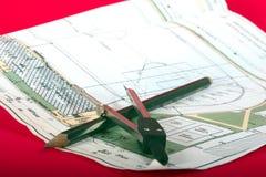 Pläne Stockbild