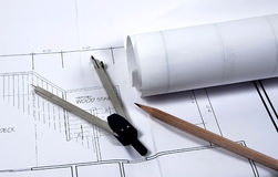 Pläne stockbilder