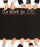 2015 Pläne Lizenzfreie Stockfotografie