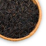 Plätera med wild svart rice Royaltyfria Bilder