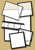 Plättchen und Filmstreifen Stockbild