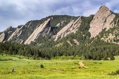 Plätteisen Boulders Colorado Stockbild