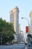 Plätteisen, das am frühen Morgen in New York errichtet Lizenzfreie Stockbilder