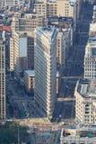 Plätteisengebäudevogelperspektive morgens, New York Lizenzfreies Stockfoto