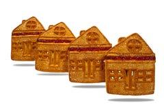 Plätzchen, ähnlich einem Haus, gemacht vom Mehl Stockbilder