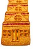 Plätzchen, ähnlich einem Haus, gemacht vom Mehl, für Abendessen Stockfoto