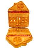 Plätzchen, ähnlich einem Haus, gemacht vom Mehl, für Tee Stockfotos