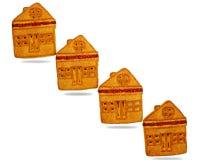 Plätzchen, ähnlich einem Haus, gemacht vom Mehl, süßes Lebensmittel Stockfoto