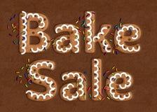 Plätzchen Art Bake Sale Graphic lizenzfreies stockbild