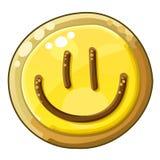 Plätzchen-Lächeln lokalisiert auf weißem Hintergrund Lizenzfreies Stockfoto