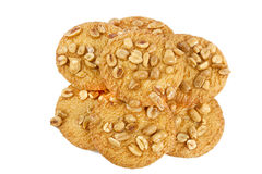 Plätzchen mit Erdnüssen Stockbilder