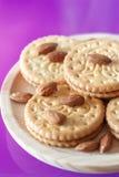 Plätzchen mit Mandeln und Schokolade Stockfotografie