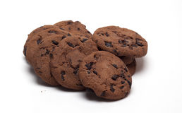 Plätzchen mit Schokolade Stockfoto