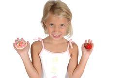 Plätzchen oder Frucht? Stockbilder