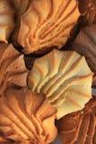 Plätzchen in pulverisiertem Zucker Stockfotografie