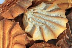 Plätzchen in pulverisiertem Zucker Stockbilder