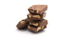 Plätzchen- und Nussschokolade Stockfoto