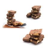 Plätzchen- und Nussschokolade Stockfotografie