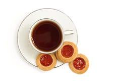 Plätzchen und Tee Stockfoto