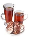 Plätzchen und Tee Lizenzfreie Stockfotos