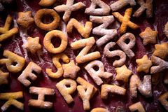 Plätzchenbuchstaben Stockbilder